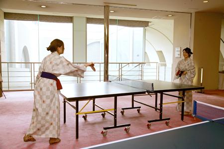 ホテル春日居の温泉卓球