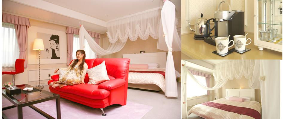 カップルにぴったりのロマンティックな客室